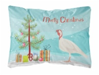 Beltsville Small White Turkey Hen Christmas Canvas Fabric Decorative Pillow