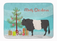 Belted Galloway Cow Christmas Machine Washable Memory Foam Mat