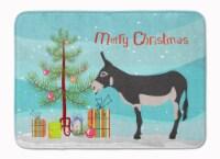 "American Mammoth Jack Donkey Christmas Machine Washable Memory Foam Mat - 19 X 27"""