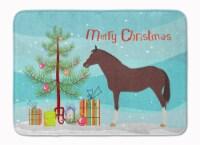 English Thoroughbred Horse Christmas Machine Washable Memory Foam Mat