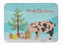 Mini Miniature Pig Christmas Machine Washable Memory Foam Mat
