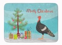 Marragansett Turkey Christmas Machine Washable Memory Foam Mat