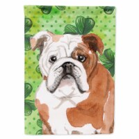 Carolines Treasures  BB9556GF English Bulldog St. Patrick's Flag Garden Size