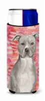 Staffordshire Bull Terrier Love Michelob Ultra Hugger for slim cans - Slim Can