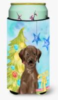 Chocolate Labrador Christmas Tall Boy Beverage Insulator Hugger