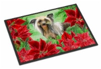Chinese Crested Poinsettas Indoor or Outdoor Mat 24x36
