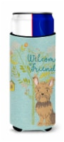 Welcome Friends Yorkie Michelob Ultra Hugger for slim cans - Slim Can