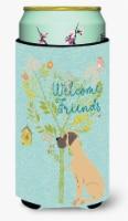Welcome Friends Fawn Great Dane Natural Ears Tall Boy Beverage Insulator Hugger - Tall Boy