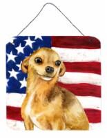 Carolines Treasures  BB9658DS66 Chihuahua Patriotic Wall or Door Hanging Prints