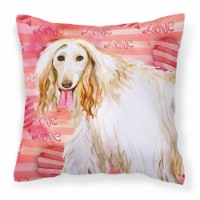 Carolines Treasures  BB9789PW1414 Afghan Hound Love Fabric Decorative Pillow