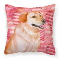 Labrador Retriever Love Fabric Decorative Pillow