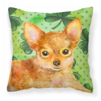 Toy Terrier St Patrick's Fabric Decorative Pillow