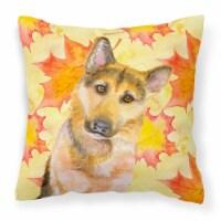 German Shepherd #2 Fall Fabric Decorative Pillow