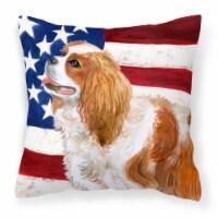 Cavalier Spaniel Patriotic Fabric Decorative Pillow