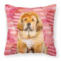Carolines Treasures  BB9808PW1818 Tibetan Mastiff Love Fabric Decorative Pillow