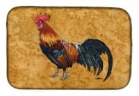 Carolines Treasures  8651DDM Rooster Dish Drying Mat