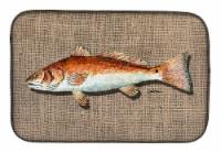 Carolines Treasures  8736DDM Red Fish Dish Drying Mat
