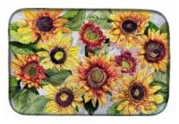 Carolines Treasures  8766DDM Sunflowers Dish Drying Mat