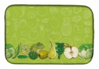 Carolines Treasures  BB5135DDM Fruits and Vegetables in Green Dish Drying Mat