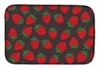 Carolines Treasures  BB5137DDM Strawberries on Gray Dish Drying Mat