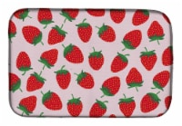 Carolines Treasures  BB5146DDM Strawberries on Pink Dish Drying Mat