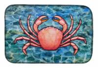 """Carolines Treasures  BB5346DDM Crab Dish Drying Mat - 14  x 21"""""""