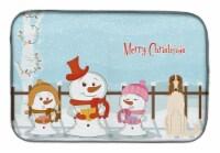 Carolines Treasures  BB2354DDM Merry Christmas Carolers Borzoi Dish Drying Mat