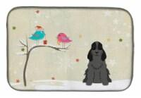 "Christmas Presents between Friends Cocker Spaniel Black Dish Drying Mat - 14  x 21"""
