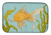 """Carolines Treasures  BB8544DDM Gold Fish Dish Drying Mat - 14  x 21"""""""