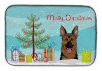 Christmas Tree and German Shepherd Dish Drying Mat