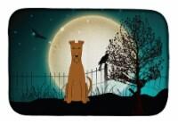 Carolines Treasures  BB2252DDM Halloween Scary Irish Terrier Dish Drying Mat