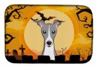 Carolines Treasures  BB1794DDM Halloween Italian Greyhound Dish Drying Mat