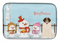 Merry Christmas Carolers Moscow Watchdog Dish Drying Mat