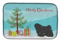 "Carolines Treasures  BB2981DDM Puli Merry Christmas Tree Dish Drying Mat - 14  x 21"""