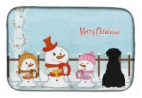 Merry Christmas Carolers Giant Schnauzer Dish Drying Mat