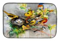 Carolines Treasures  JMK1024DDM Spring Birds Dish Drying Mat