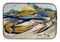 "Carolines Treasures  JMK1092DDM Blue Crab Dish Drying Mat - 14  x 21"""