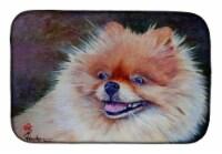 Carolines Treasures  MH1056DDM Pomeranian Head Dish Drying Mat