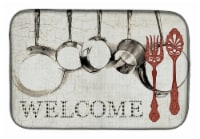 Carolines Treasures  SB3087DDM Pots and Pans Welcome Dish Drying Mat