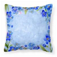 Carolines Treasures  CK1703PW1818 Myosotis flowers Fabric Decorative Pillow - 18Hx18W