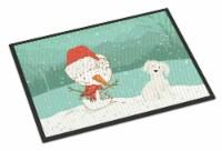 Maltese Snowman Christmas Indoor or Outdoor Mat 18x27