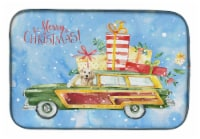 Baker S Carolines Treasures Ck2407ddm Merry Christmas Golden Retriever Dish Drying Mat 14 X 21