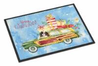 Merry Christmas Tricolor Cavalier Spaniel Indoor or Outdoor Mat 24x36