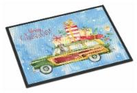 Merry Christmas Irish Wolfhound Indoor or Outdoor Mat 18x27