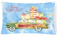 Merry Christmas Wheaten Terrier Canvas Fabric Decorative Pillow