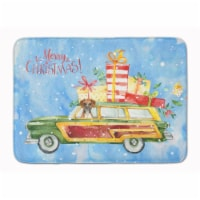 "Merry Christmas Boxer Machine Washable Memory Foam Mat - 19 X 27"""