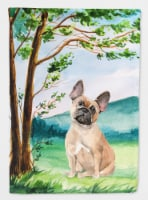 Under the Tree Fawn French Bulldog Flag Canvas House Size - House Size