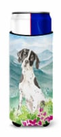 Mountain Flowers English Pointer Michelob Ultra Hugger for slim cans - Slim Can