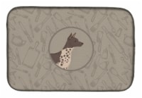 American Hairless Terrier In the Kitchen Dish Drying Mat