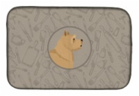 Carolines Treasures  CK2198DDM Norwich Terrier In the Kitchen Dish Drying Mat